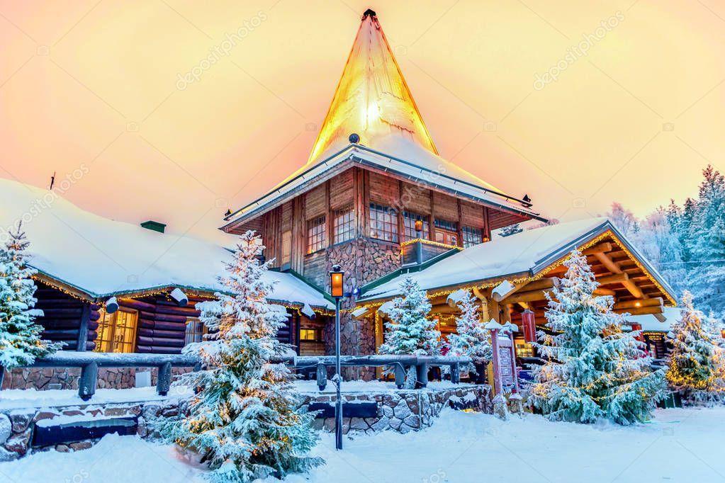 Pueblo De Papa Noel Laponia Finlandia Laponia Laponia Finlandia Laponia Papa Noel