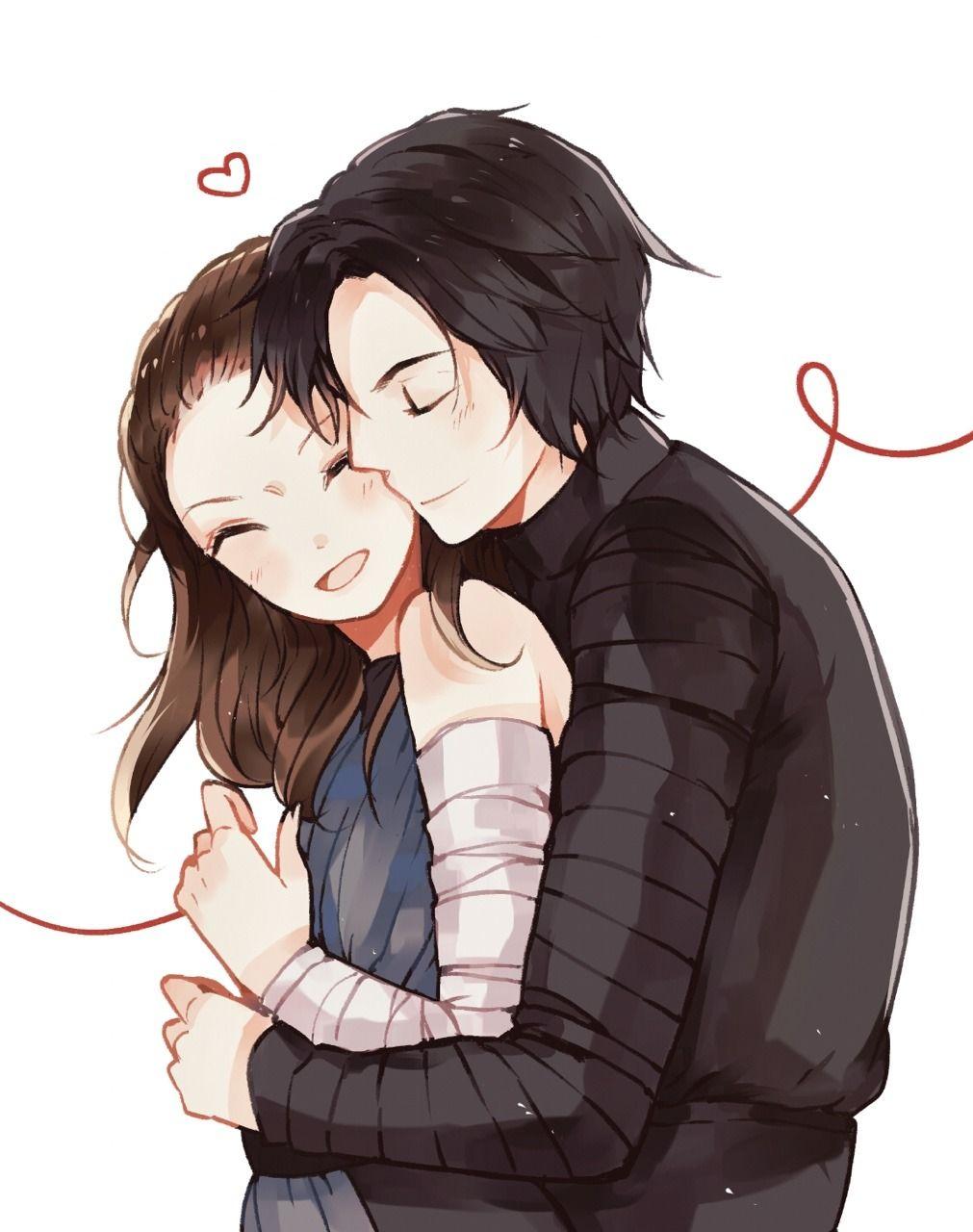 Hug from behind ️ Hug from behind, Anime hug, Anime poses