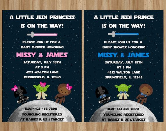For Boy Or Star Wars Baby Shower By Graphicsbycolton On Etsy