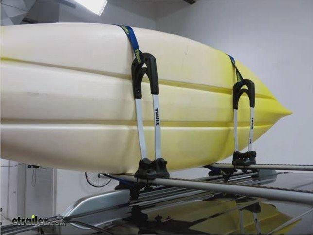 Thule The Stacker Rooftop Kayak Carrier Review Video Kayaking With Kids Kayaking Kayak Rack
