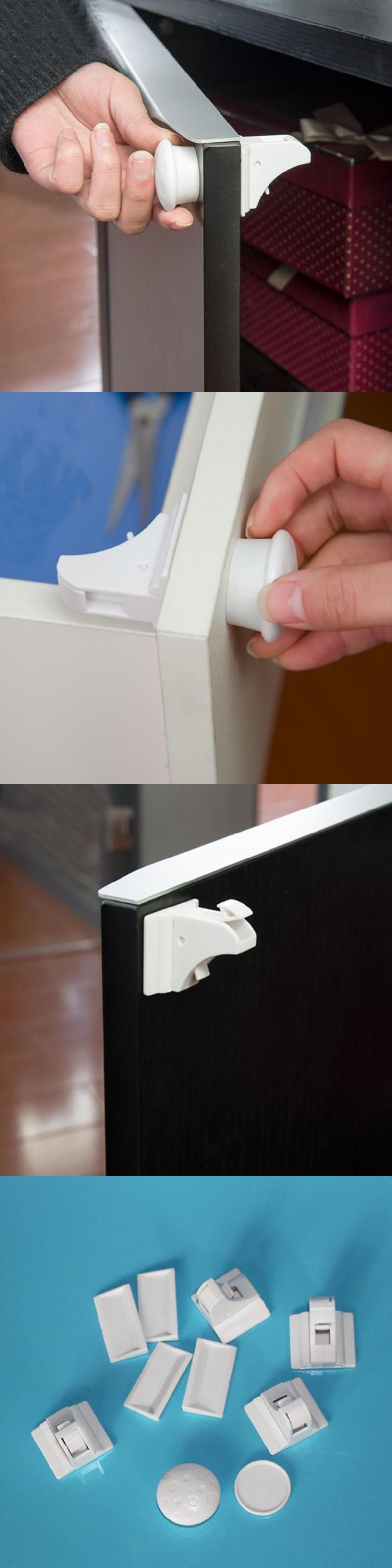 Invisible Baby Safety Magnetic Cabinet Lock Children Protection