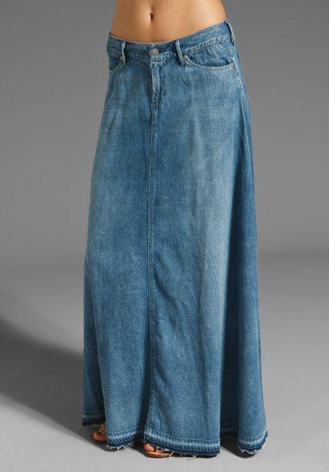 Длинные джинсовые юбки где купить