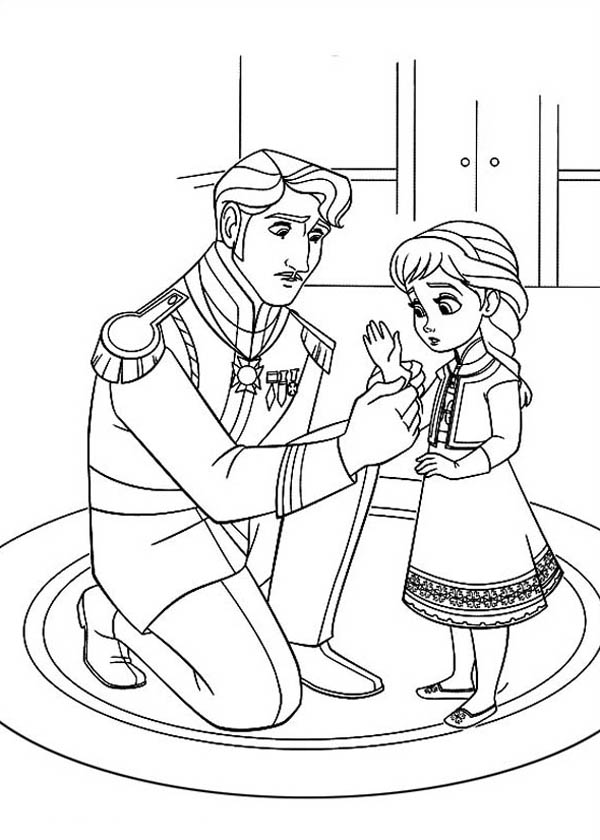 The King Arendelle Put Gloves To Young Elsa Coloring Page Download Print Online Coloring P Elsa Coloring Pages Cartoon Coloring Pages Frozen Coloring Pages