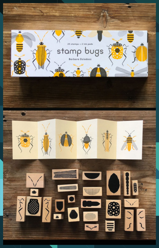 Stamp Bugs #Bugs #christmas crafts #crafts ideas #easter crafts #fall crafts #stamp #summer crafts