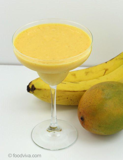 Smoothie mango banane joghurt