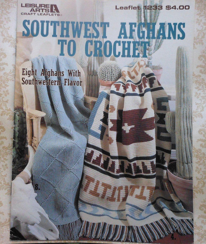 Southwest Afghans to Crochet Pattern Booklet 8 Southwestern Afghan ...