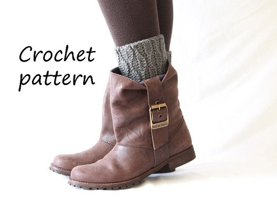 crochet boot cuffs pattern, crochet tutorial,boot toppers, boot ...