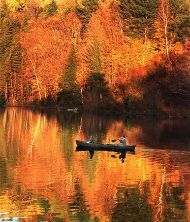 ... New England (seen here, North Calais, Vt., in October) canoeing