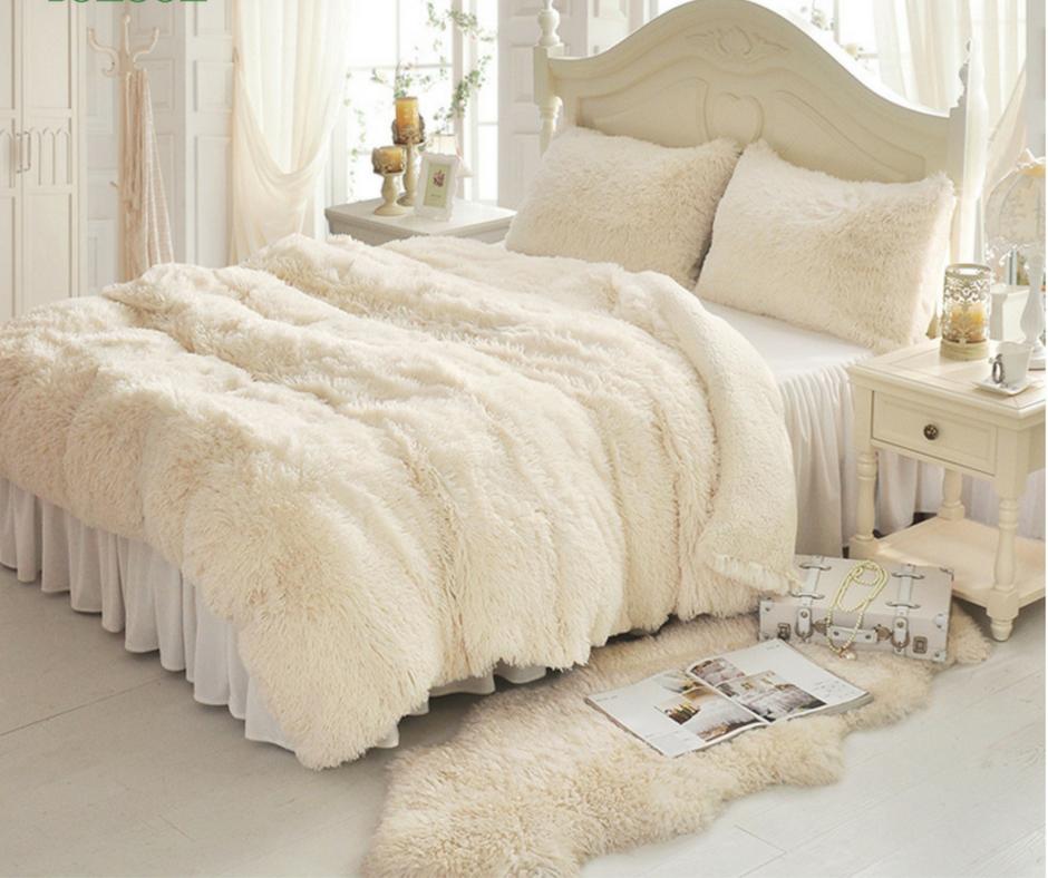 Princess Fluffy Bed Sets In 2019 Bedroom Comforter Sets