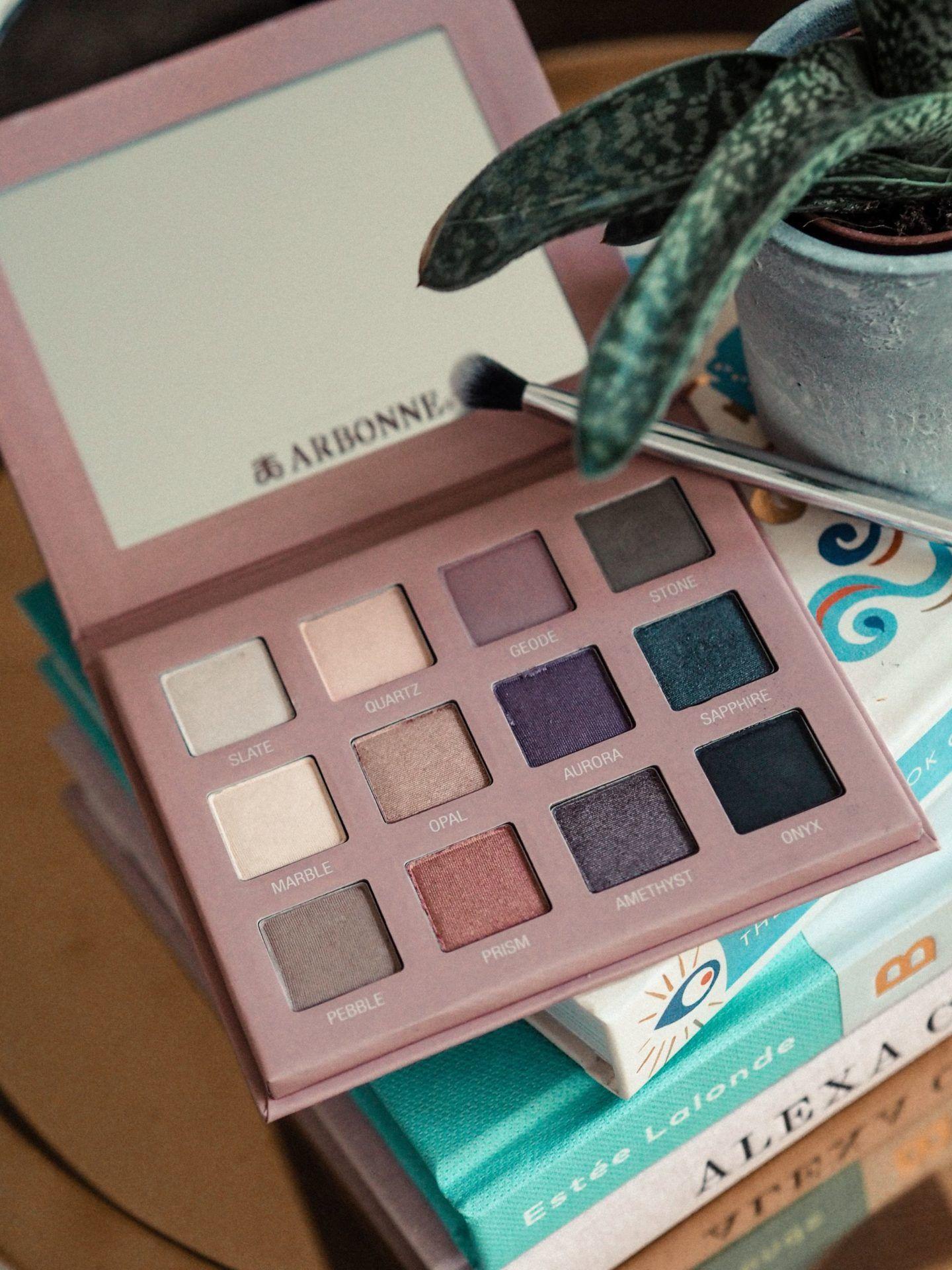 Review Arbonne, Mallow flower, Eye palette