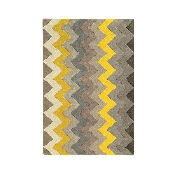 Trio Collection Zigzag Area Rug 855 Ron Liked On Polyvore Featuring Home