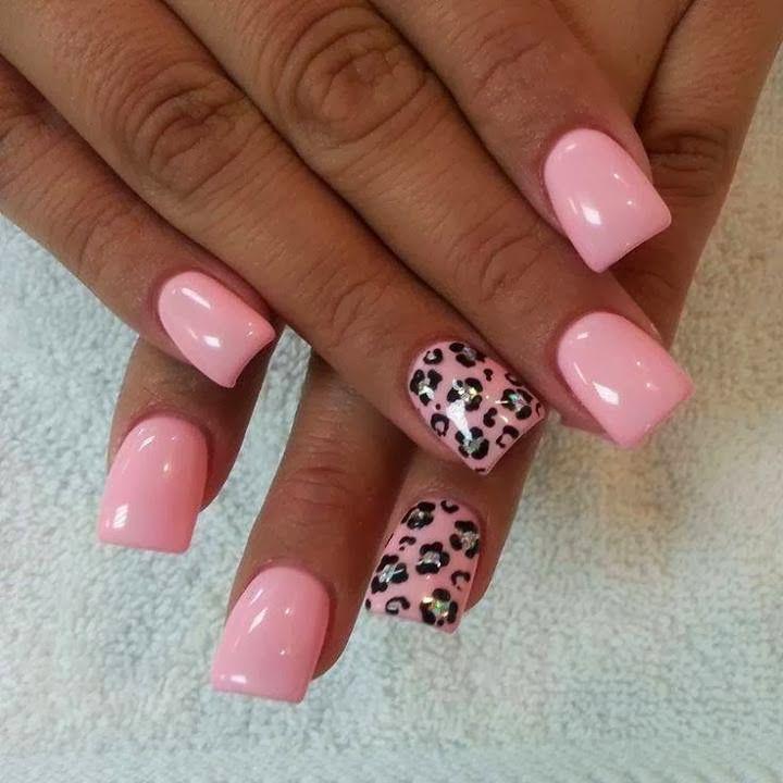 backfill-gelish-blushing baby pink-silver-holo mylar foil leopard ...