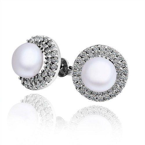 """Kimberly """"Bright"""" Pearl Earrings"""