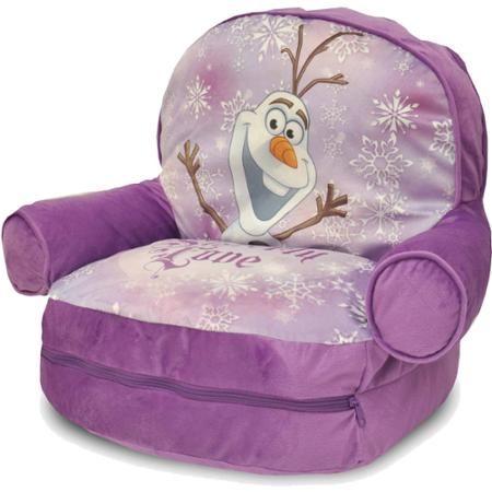 Wondrous Disney Frozen Bean Bag With Bonus Slumber Bag Walmart Com Creativecarmelina Interior Chair Design Creativecarmelinacom