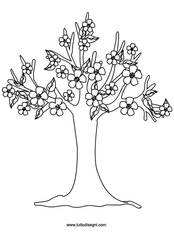 albero-pesco-4 | tree embriodery | Pinterest | Tree leaves ...