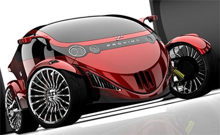 proxima the car bike hybrid concept a two seater hybrid vehicle with a car view in front and a. Black Bedroom Furniture Sets. Home Design Ideas