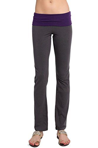Purple bootcut yoga pants