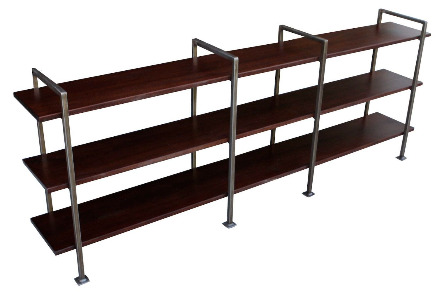Custom Console Table Height Urban Modern Metal Bookcase