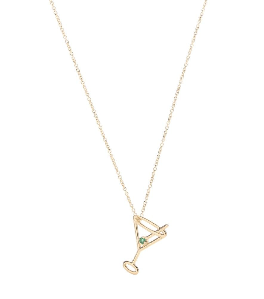 Martini 9kt gold and emerald necklace Aliita osaG0Y