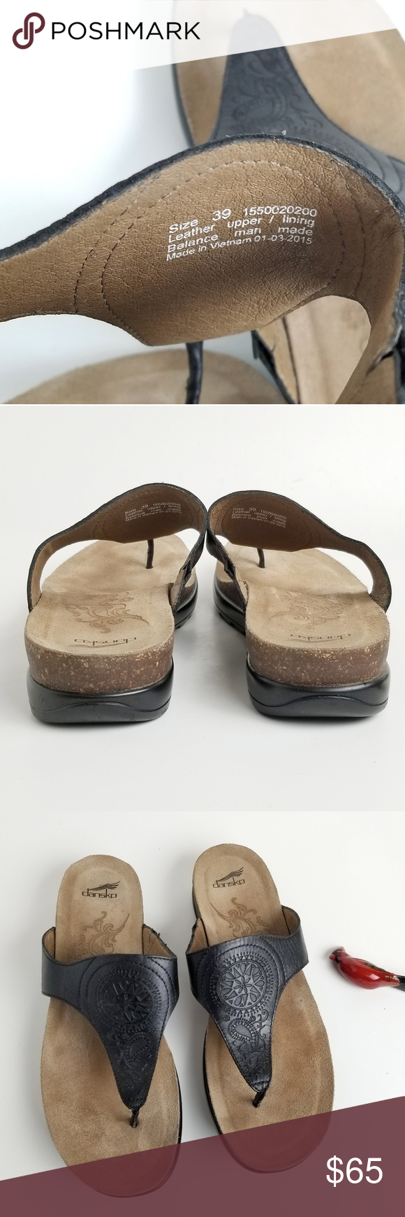 f2ce55668d7f Dansko Priya black leather thong sandals size9 women s Dansko Priya sandals  confort and casual in veg