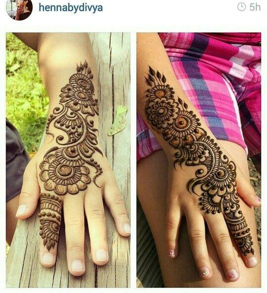 Mehndi Tattoo For Kids : Mehndi designs for kids