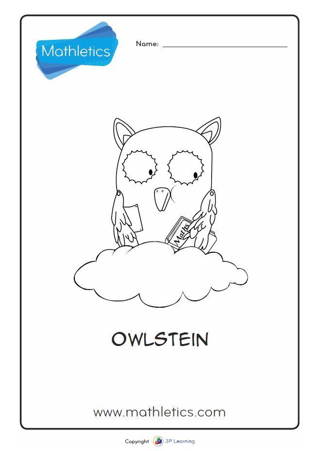 Mathletics Printables - Owlstein Colouring Page | #FreeResources ...