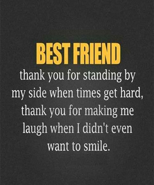 Best Quotes On Smile For Friends: Best Friend Message Thank You
