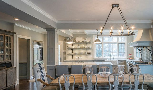 Image Result For Gray Kitchen Open Dining Room  Gray Kitchen Delectable Rectangular Dining Room Chandelier Inspiration Design