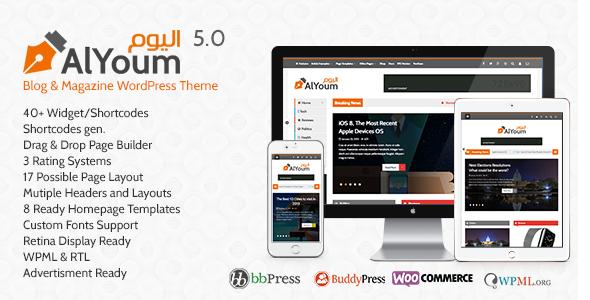 62 Best Rtl Arabic And Multilingual Wordpress Themes For Blog Themes Wordpress Magazine Theme Wordpress Wordpress Blog