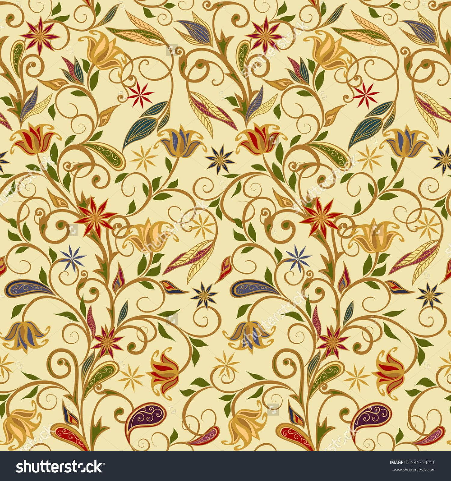 Seamless pattern in ethnic traditional style. Abstract vintage ...