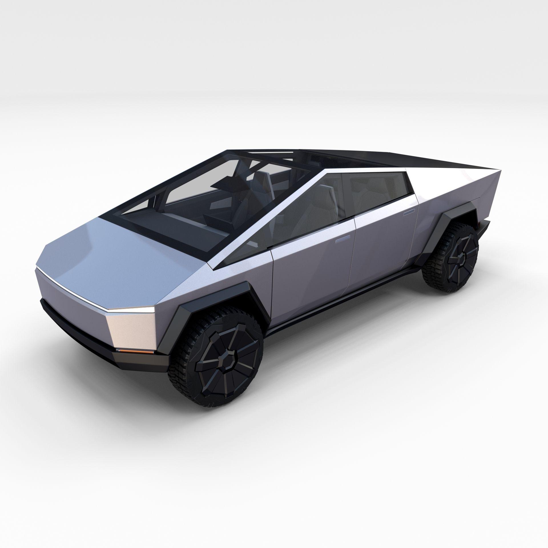Tesla Cybertruck With Chassis And Interior Tesla Tesla Roadster Tesla Car