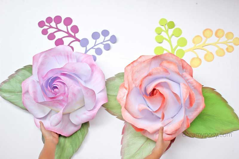Free template and full tutorial to make giant rose for backdrop tutorial for backdrop rose from printer paper free template mightylinksfo
