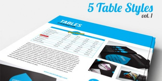 5 High-Quality Free InDesign Table Styles | Design | Pinterest ...