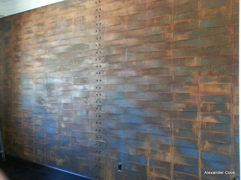 Specialty Quot Woven Quot Wall Panel Painted To Look Like Rusted