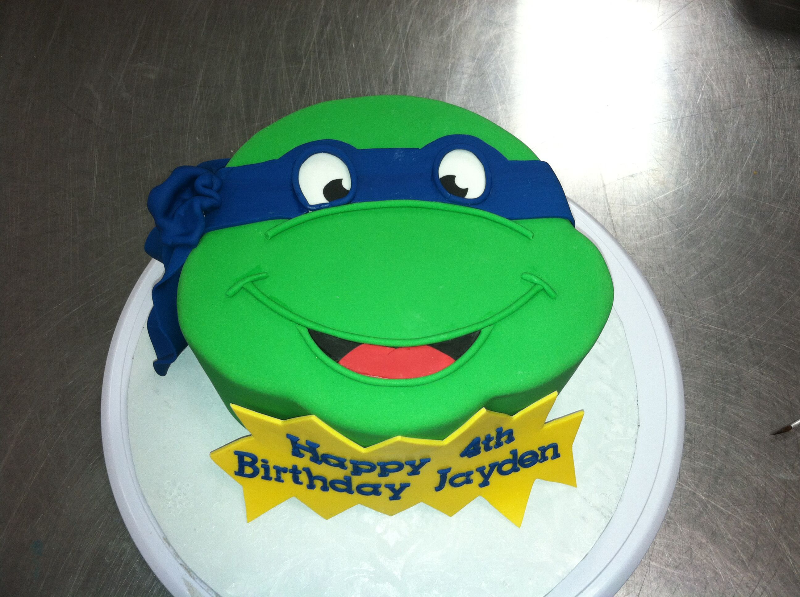 Aboveandbeyondcakes Tmnt Leonardo Cake My Creations In