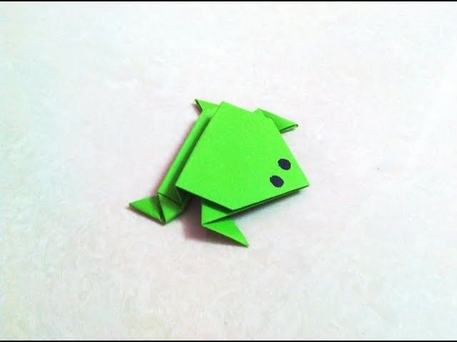 How To Make An Origami Paper Frog Papercraft Pinterest Paper