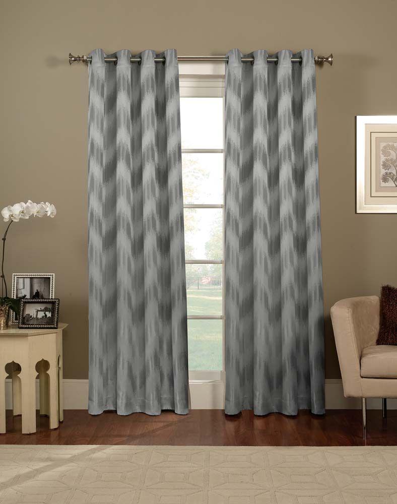 Ikat Chevron Grommet Curtain Panel / Curtainworks.com