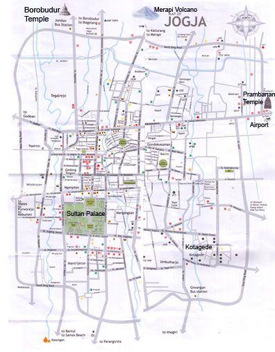 Yogyakarta Map | Yogyjakarta | Pinterest | Yogyakarta, Indonesia and ...