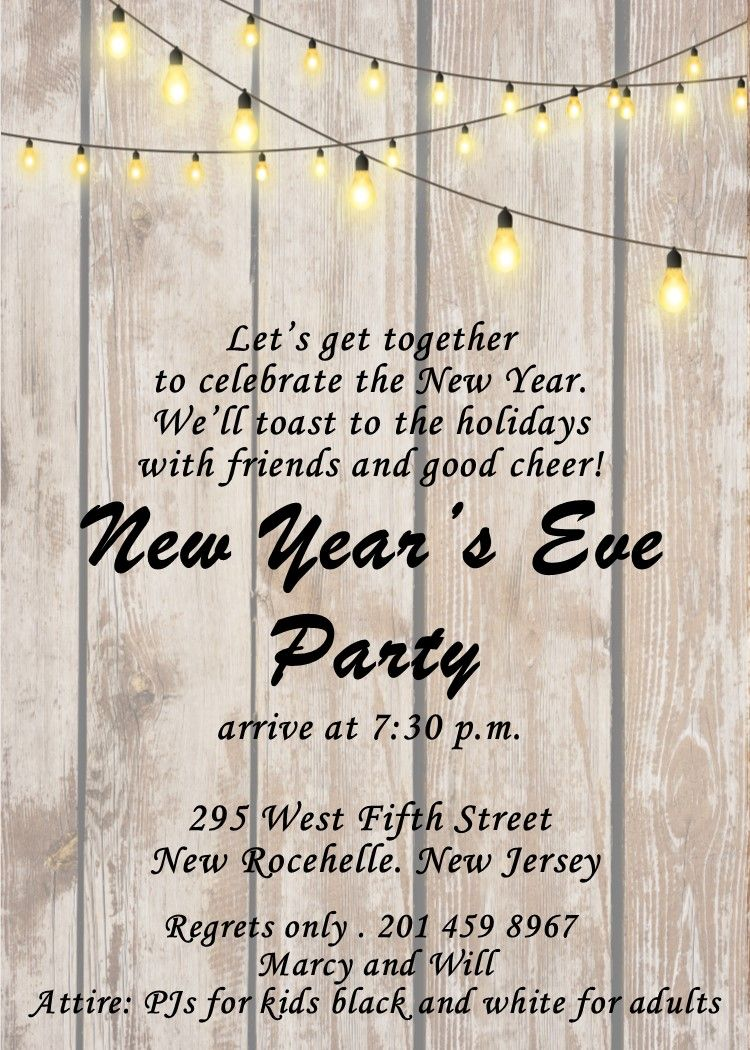 Pin on New Years Eve Invitations