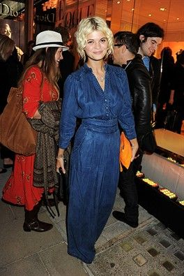 Awesome dress. Love that shade of denim.