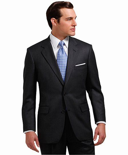 088d612d3a Perfectly fitted. Madison Saxxon™ Herringbone 1818 Suit Grey (Brooks ...