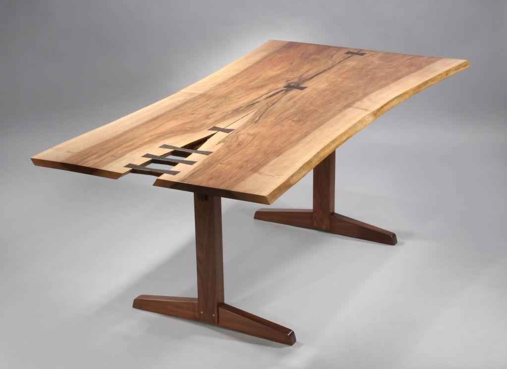 Great Spectacular Trestle Dining Table By George Nakashima Image 2