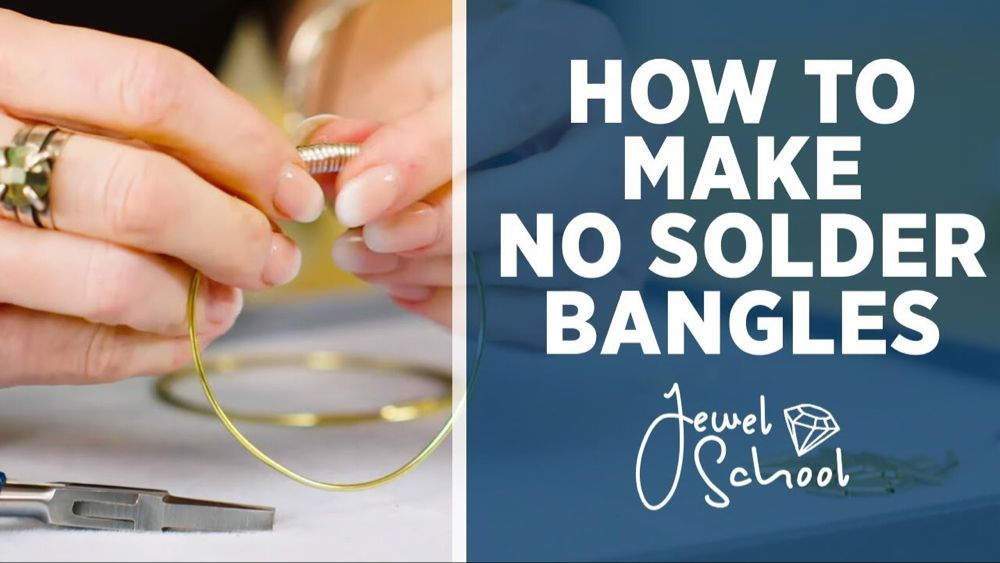 How To Make No Solder Bangles Jewelry 101 Youtube Soldering Jewelry Soldering Jewelry