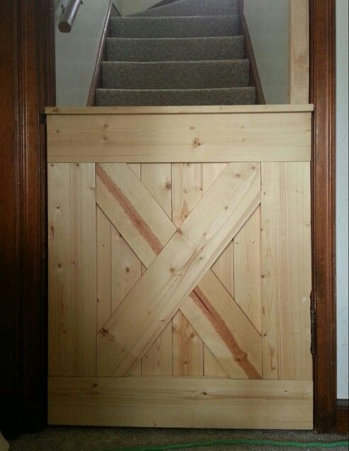we altered the barn door baby gate design from www remodelaholic com