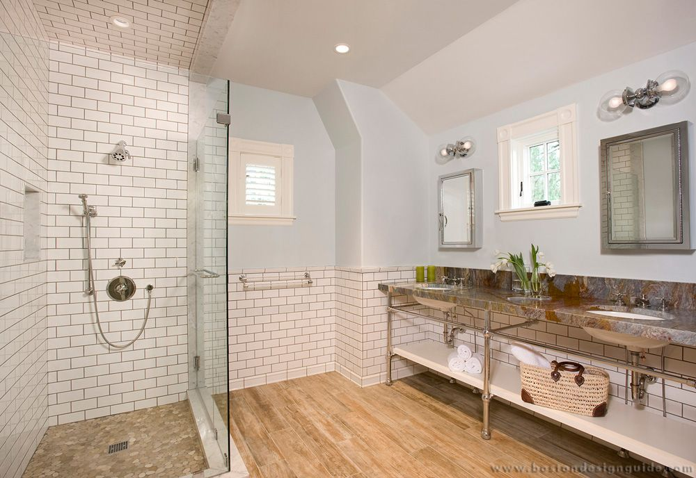 Image result for glass shower wall vaulted ceiling Wood
