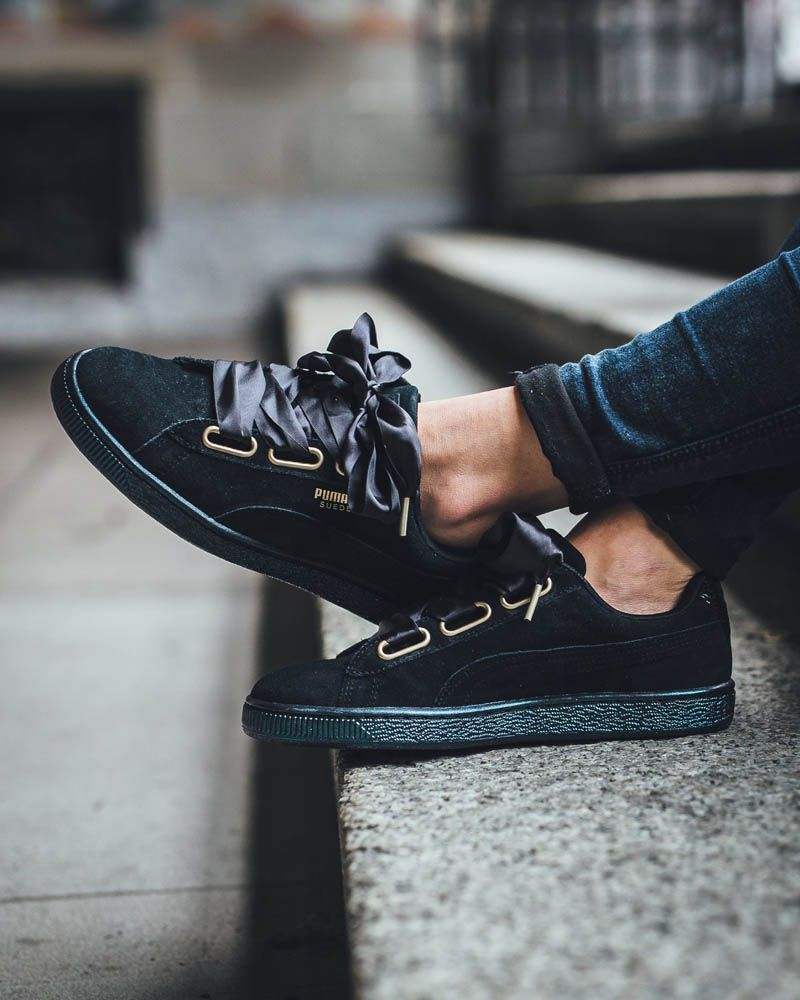 Image result for puma Suede Heart Satin Women's Trainers