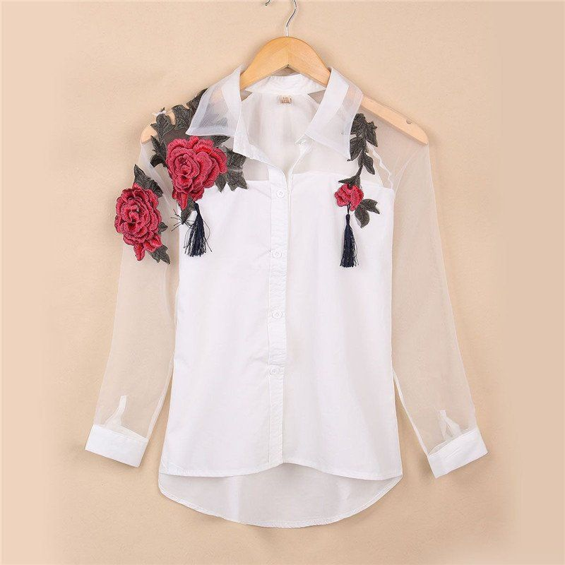 Embroidery Magic Super Smart Shirt | Floral embroidery, Embroidery ...