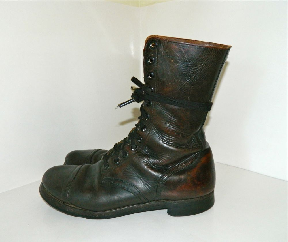 2e729f1b0cdca Vintage BFG BF Goodrich Military Motorcycle Chocolate Brown Leather ...