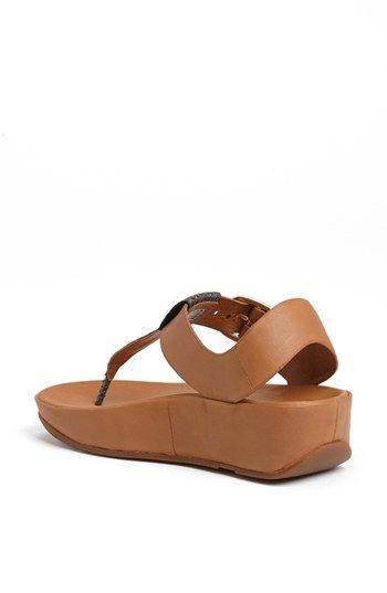 1d3c0b7671b1fe FitFlop  Tia™  Leather Sandal