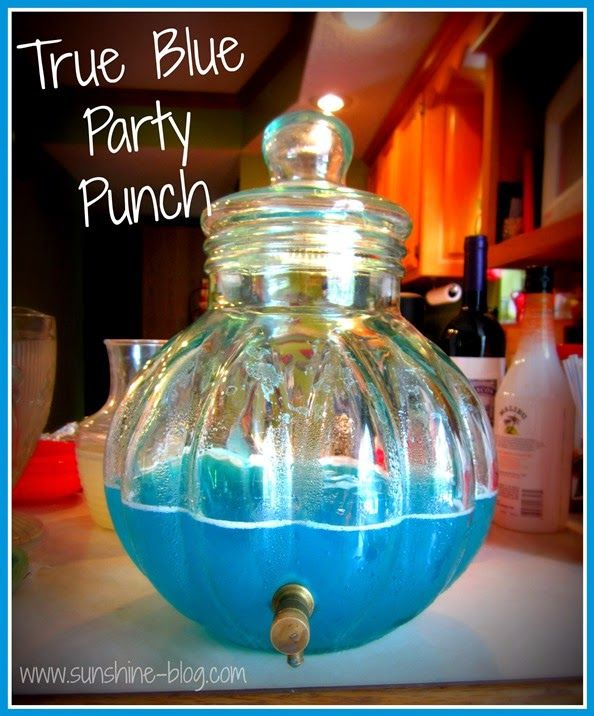 True Blue Party Punch: 1 Gallon Jug Hawaiian Punch Berry